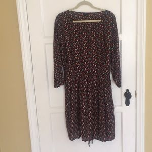 Simply Be Bird Print Dress Size 20